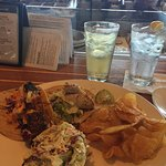 Mahi Mahi and Swordfish taco plate. Totally got me hooked on fish tacos! Great Coleslaw too!