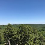 view from Patio. See the Christ of the Ozarks??