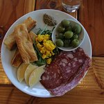The meat and cheese plate