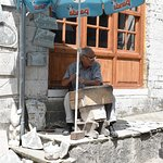 The stone cutter in the Bazaar