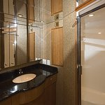 All four cabins have ensuite bathrooms