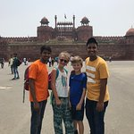 Red Fort with our young guides