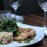 Cumin Brushed Chicken, tabbouleh and chimicurri sauce