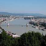 View of Danube River from the Freedom Statue