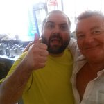 with one of the owners Lovely bloke