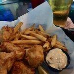 Light, crispy, fresh, delicious halibut & chips lunch! Xo