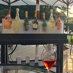 The lovely champagne trolley on the terrace with your favourite choice.