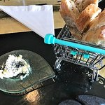 Skyr butter with black lava salt and fresh bread