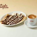 Creppe de nutella  y café