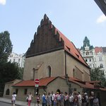 Situated among other old buildings in the heart of Prague