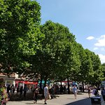 Busy market area