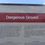 Warning! Stay on the boardwalk!