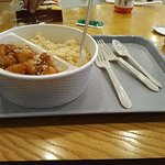 Lunch in a paper plate, restaurant prices