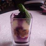 blueberry cake shotglass
