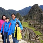 Isaias with my family at Machu Picchu