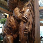 gorgeous wood work inside of the brewery
