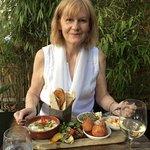 The vegetarian platter at Rock & Rose