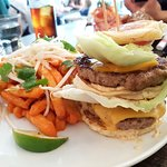 Double Pancake Pork Burger