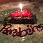 Fatia de bolo de aniversário