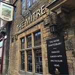 The Mitre front of the pub