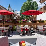 Alpha Bistro Summer Patio - at the Banff Rocky Mountain Resort