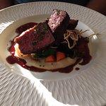 Steak with Potato Mushroom Puree