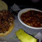 Chicken Sammy with baked beans