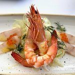 King Prawns & Ouzo Cured Kingfish
