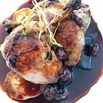 Confit Duck with Black Cherry Glaze