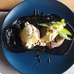 Lava cake and ice cream