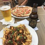 My wife's personal pizza, and my poutine, both excellent. And of course beer :)