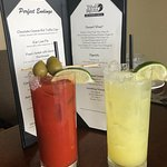Bloody Mary and a Margarita