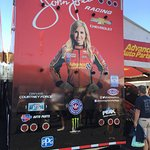 Back wall of Courtney Force's hauler