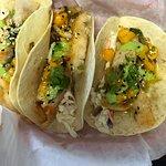 Wasabi fish tacos