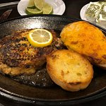 Crab and shrimp stuffed grilled flounder with cheesy potato