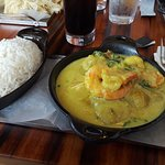 fish & curried shrimp