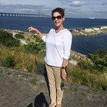 Celebrating the crossing of the great bridge between Copenhagen and Sweden!