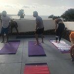 Yoga on the terrace!