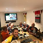 Well deserved food after 65 miles