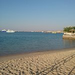 At the beach at theMarriot Hurghada