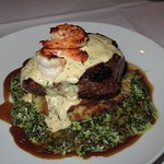 Grilled Filet Mignon w/Seared Shrimp