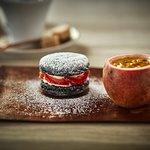 Strawberry Daquoise & Passionfruit Creme