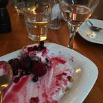 Lovely glass of Rose ..less exciting berry cheesecake!