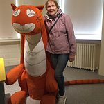 Me with a well behaved exhibit from 'The Tiger Who Came to Tea'