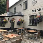 The Ship South Walsham front entrance and patio