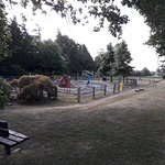 The attached playground and gardens