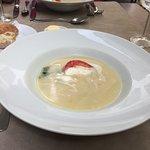 Soupe d'asperge aux crevettes grises inexistante