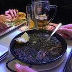 Paella à l'encre de séche