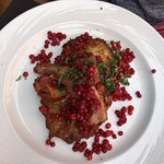 Fried pork and lingonberries
