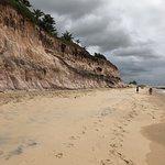 Praia do giz em direção a Tibau do sul, desembocadura da lagoa do guaraíra.